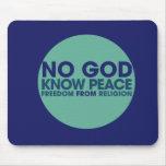 Ningún dios sabe paz alfombrillas de ratones