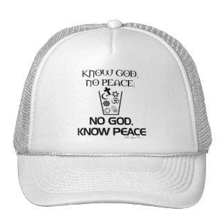 Ningún dios, sabe paz gorras de camionero