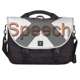 Ningún discurso libre bolsas para portatil