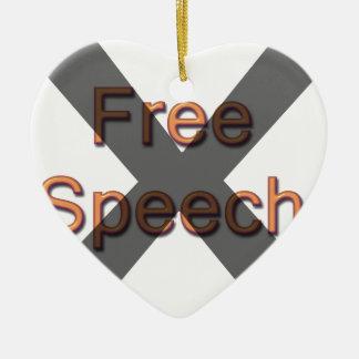 Ningún discurso libre ornamento para arbol de navidad