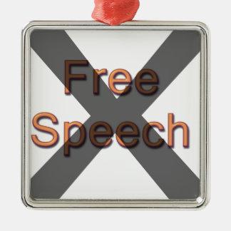 Ningún discurso libre adornos