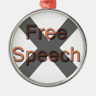Ningún discurso libre ornamento de navidad
