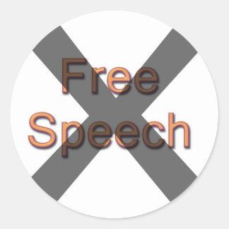 Ningún discurso libre etiqueta redonda