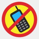 Ningún diseño del uso del teléfono celular etiquetas