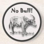Ningún diseño redondo de Bull Posavaso Para Bebida