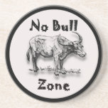 Ningún diseño redondo de la zona de Bull Posavasos Personalizados