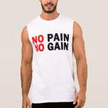 ningún dolor ningún aumento camisetas sin mangas