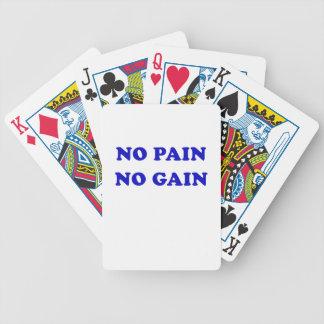 Ningún dolor ningún aumento baraja cartas de poker