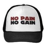 Ningún dolor ningún aumento gorra