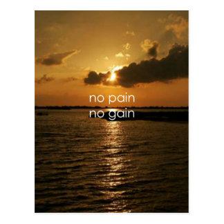 Ningún dolor, ningún aumento…. postal