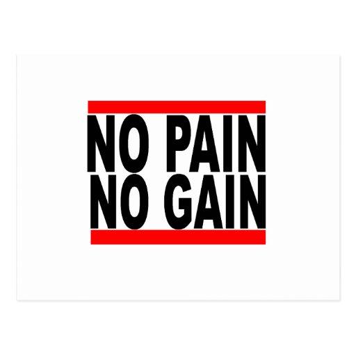 ningún dolor ningún aumento tshirt.png postales