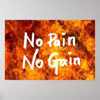 Ningún dolor ninguna cita de motivación del póster