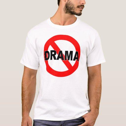 Ningún drama (camiseta) playera