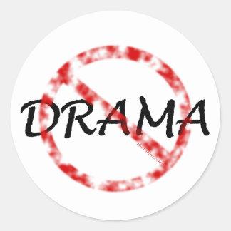 Ningún drama pegatina redonda