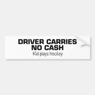 Ningún efectivo (hockey del juego de los niños) pegatina de parachoque