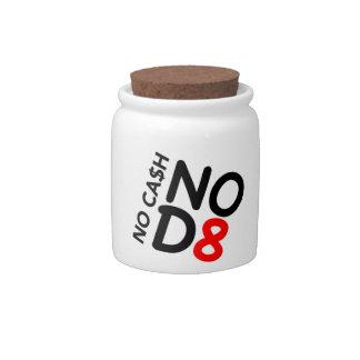 Ningún efectivo - tarro del caramelo NOD8 Platos Para Caramelos