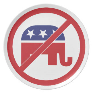 Ningún elefante del republicano de la política plato