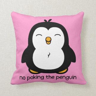 Ningún empuje del pingüino cojin