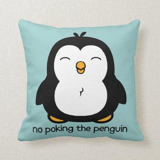 Ningún empuje del pingüino cojines
