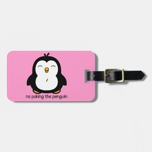 Ningún empuje del pingüino etiquetas maletas