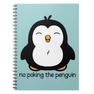 Ningún empuje del pingüino libros de apuntes