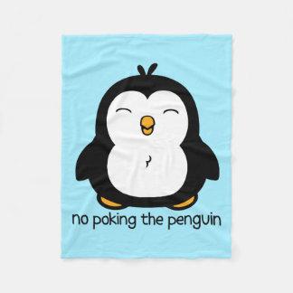 Ningún empuje del pingüino manta de forro polar