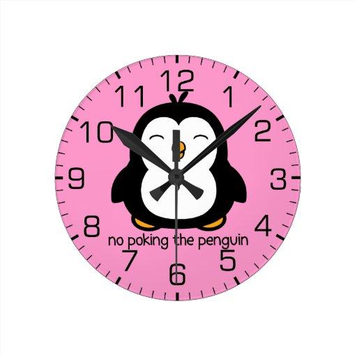 Ningún empuje del pingüino reloj