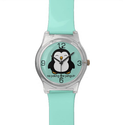 Ningún empuje del pingüino relojes