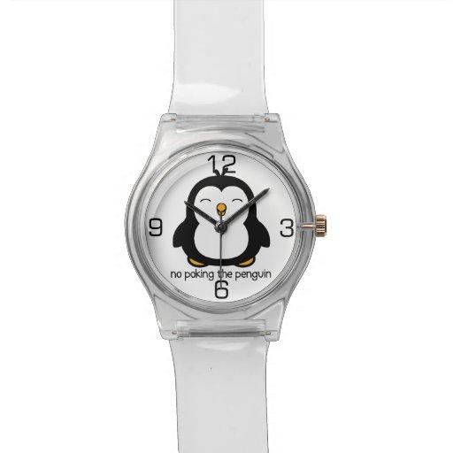 Ningún empuje del pingüino reloj de mano