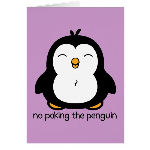 Ningún empuje del pingüino tarjetón