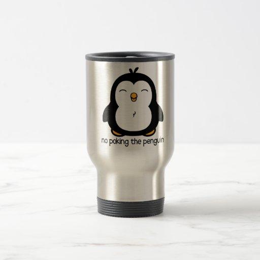 Ningún empuje del pingüino tazas