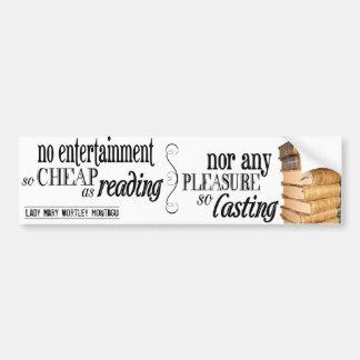 Ningún entretenimiento tan barato como lectura pegatina para auto