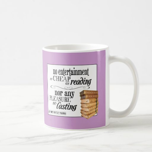 Ningún entretenimiento tan barato como lectura taza