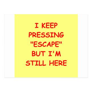 ningún escape tarjetas postales