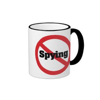 Ningún espionaje de hermano mayor de la oficina de taza de dos colores