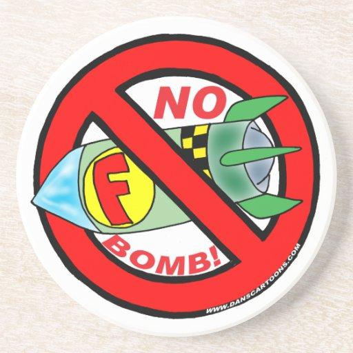 ¡NINGÚN F-BOMB! PRÁCTICOS DE COSTA POSAVASO PARA BEBIDA