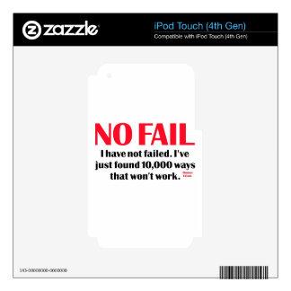 Ningún fall calcomanía para iPod touch 4G
