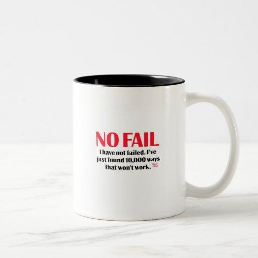 Ningún fall tazas de café