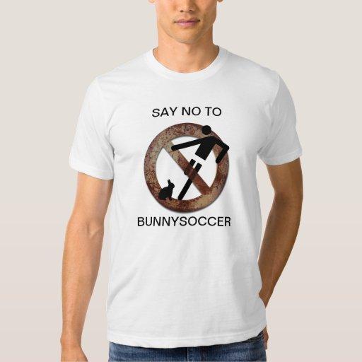 Ningún fútbol de los bunnys playera