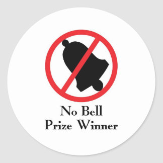 Ningún ganador del premio de Bell Pegatinas Redondas