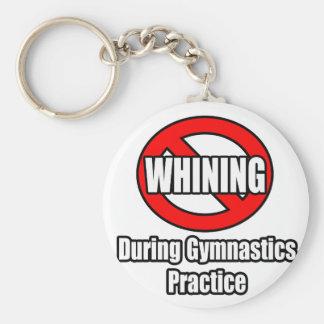 Ningún gimoteo durante práctica de la gimnasia llaveros personalizados