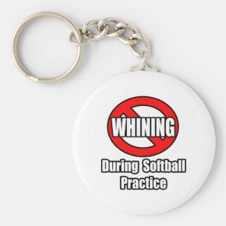 Ningún gimoteo durante práctica del softball llavero