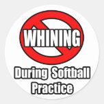 Ningún gimoteo durante práctica del softball etiquetas