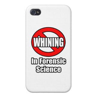 Ningún gimoteo en ciencia forense iPhone 4 carcasas