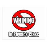 Ningún gimoteo en clase de la física tarjeta postal