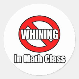 Ningún gimoteo en clase de la matemáticas etiquetas