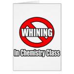 Ningún gimoteo en clase de química felicitación