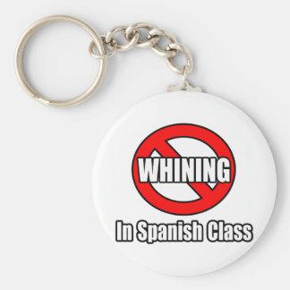 Ningún gimoteo en clase española llaveros
