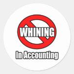 Ningún gimoteo en la contabilidad pegatina redonda