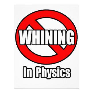Ningún gimoteo en la física membretes personalizados